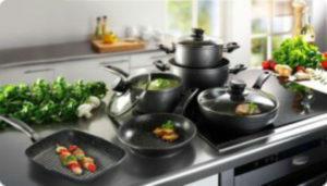 Наборы посуды с антипригарным мраморным покрытием